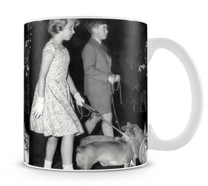 Prince Charles with Princess Anne as children with pet dogs Mug - Canvas Art Rocks - 1
