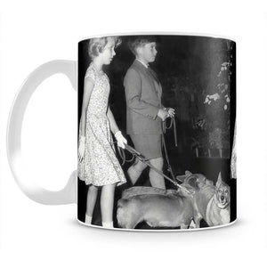 Prince Charles with Princess Anne as children with pet dogs Mug - Canvas Art Rocks - 2
