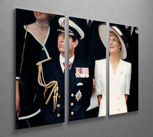Prince Charles with Princess Diana British forces homecoming 3 Split Panel Canvas Print - Canvas Art Rocks - 2