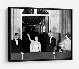 Prince Charles with family during Silver Jubilee fireworks HD Metal Print