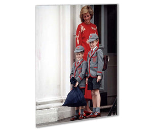 Prince Harry and Prince William at Wetherby School Outdoor Metal Print - Canvas Art Rocks - 1