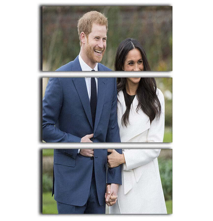 Prince Harry and fiance Meghan Markle announce their engagement 3 Split Panel Canvas Print