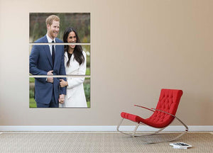 Prince Harry and fiance Meghan Markle announce their engagement 3 Split Panel Canvas Print - Canvas Art Rocks - 2