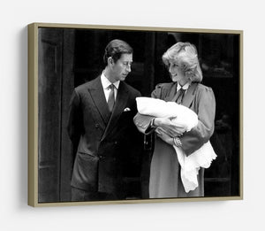 Prince Harry as a newborn with proud parents HD Metal Print