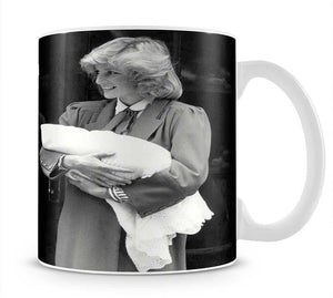 Prince Harry as a newborn with proud parents Mug - Canvas Art Rocks - 1