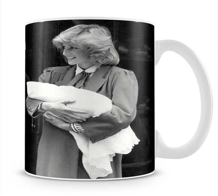 Prince Harry as a newborn with proud parents Mug