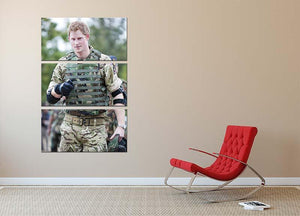 Prince Harry at the Jamaican Defence Force in Jamaica 3 Split Panel Canvas Print - Canvas Art Rocks - 2