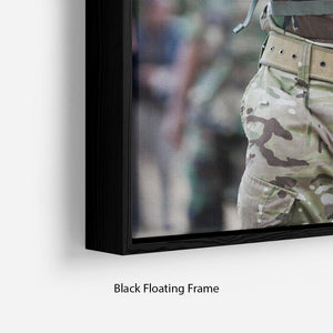 Prince Harry at the Jamaican Defence Force in Jamaica Floating Frame Canvas