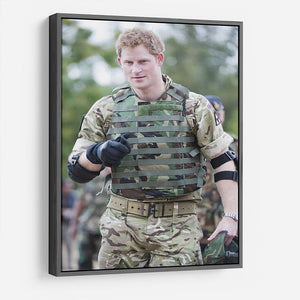 Prince Harry at the Jamaican Defence Force in Jamaica HD Metal Print