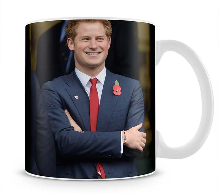 Prince Harry at the Rugby International Mug