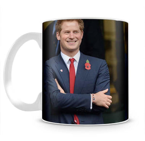 Prince Harry at the Rugby International Mug - Canvas Art Rocks - 2
