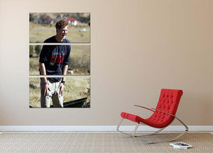 Prince Harry helping build a school in Lesotho South Africa 3 Split Panel Canvas Print - Canvas Art Rocks - 2