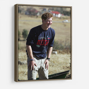 Prince Harry helping build a school in Lesotho South Africa HD Metal Print