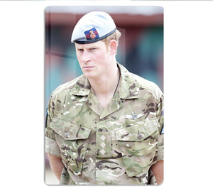Prince Harry in uniform during a tour of Jamaica HD Metal Print