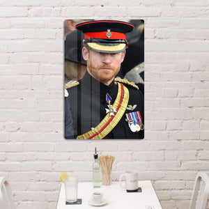 Prince Harry in uniform during ceremonies in Staffordshire HD Metal Print