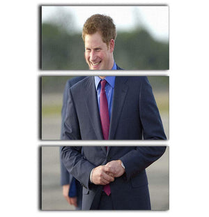 Prince Harry on a royal visit to Belize 3 Split Panel Canvas Print - Canvas Art Rocks - 1