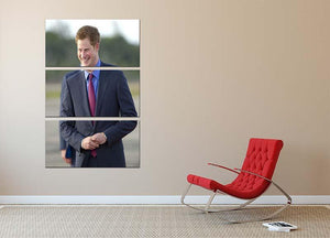 Prince Harry on a royal visit to Belize 3 Split Panel Canvas Print - Canvas Art Rocks - 2