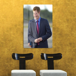 Prince Harry on a royal visit to Belize HD Metal Print