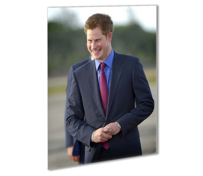 Prince Harry on a royal visit to Belize Outdoor Metal Print