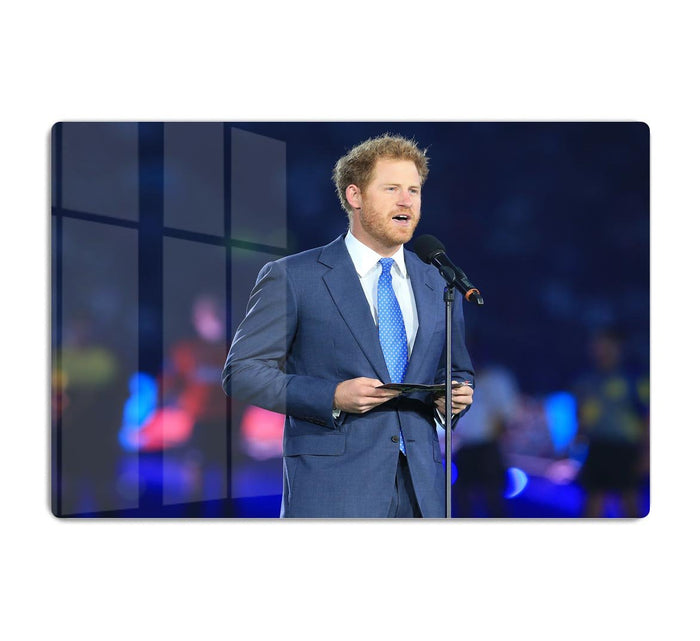 Prince Harry opening the Rugby World Cup 2015 HD Metal Print