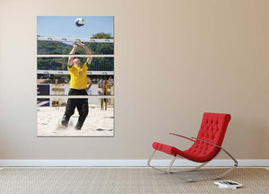 Prince Harry playing volleyball in Rio De Janeiro Brazil 3 Split Panel Canvas Print - Canvas Art Rocks - 2