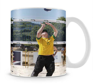 Prince Harry playing volleyball in Rio De Janeiro Brazil Mug - Canvas Art Rocks - 1