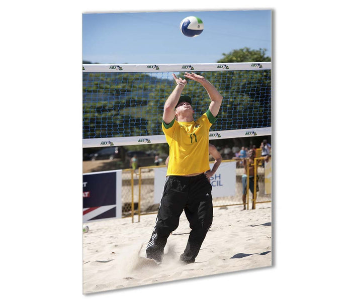 Prince Harry playing volleyball in Rio De Janeiro Brazil Outdoor Metal Print