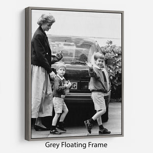 Prince Harry returning to school Floating Frame Canvas