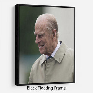 Prince Philip at the 90th birthday of Queen Elizabeth II Floating Frame Canvas