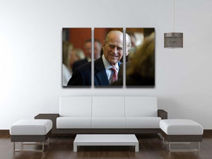 Prince Philip at the Journalists Charity at Stationers Hall 3 Split Panel Canvas Print - Canvas Art Rocks - 3