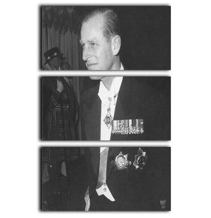 Prince Philip attending the opera at Covent Garden 3 Split Panel Canvas Print - Canvas Art Rocks - 1