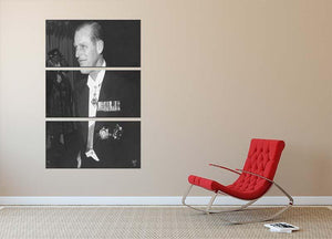 Prince Philip attending the opera at Covent Garden 3 Split Panel Canvas Print - Canvas Art Rocks - 2