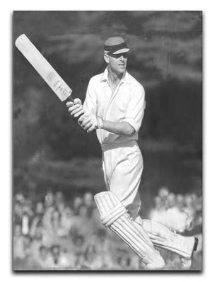 Prince Philip batting at a charity cricket match Canvas Print or Poster  - Canvas Art Rocks - 1