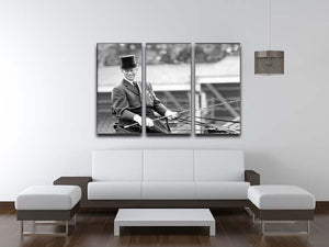 Prince Philip driving a carriage during a race at Ascot 3 Split Panel Canvas Print - Canvas Art Rocks - 3