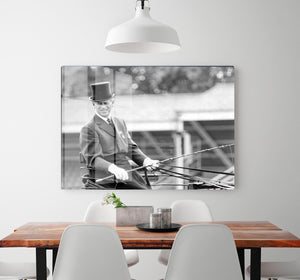 Prince Philip driving a carriage during a race at Ascot HD Metal Print