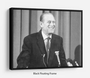 Prince Philip giving a lecture at Hudson Bay House Floating Frame Canvas