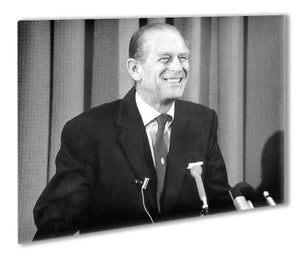 Prince Philip giving a lecture at Hudson Bay House Outdoor Metal Print - Canvas Art Rocks - 1