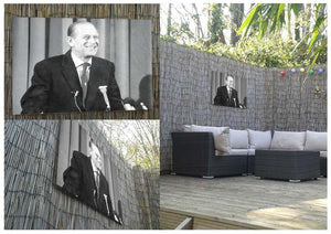 Prince Philip giving a lecture at Hudson Bay House Outdoor Metal Print - Canvas Art Rocks - 2