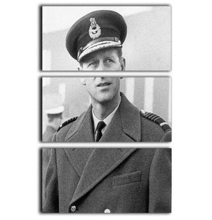 Prince Philip in Grimsby 3 Split Panel Canvas Print - Canvas Art Rocks - 1