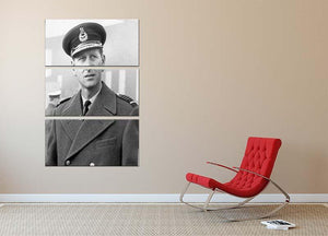 Prince Philip in Grimsby 3 Split Panel Canvas Print - Canvas Art Rocks - 2