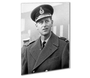 Prince Philip in Grimsby Outdoor Metal Print - Canvas Art Rocks - 1