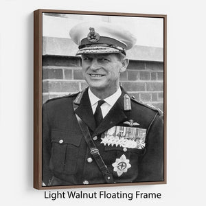 Prince Philip in Royal Marines uniform Floating Frame Canvas