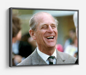 Prince Philip laughing at the Royal Windsor Horse Show HD Metal Print