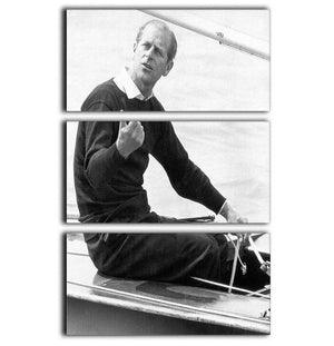 Prince Philip resting after racing at Cowes Isle of Wight 3 Split Panel Canvas Print - Canvas Art Rocks - 1