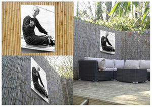 Prince Philip resting after racing at Cowes Isle of Wight Outdoor Metal Print - Canvas Art Rocks - 2