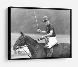 Prince Philip shown winning the polo Gold Cup HD Metal Print