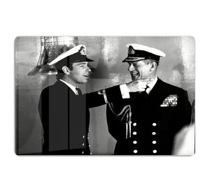 Prince Philip with Prince Edward at Falklands homecoming HD Metal Print