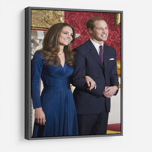 Prince William and Kate announcing their engagement HD Metal Print
