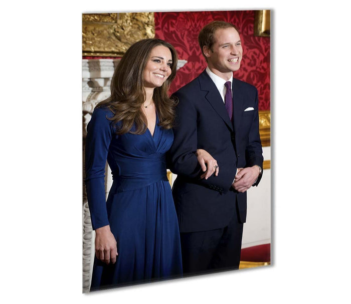 Prince William and Kate announcing their engagement Outdoor Metal Print