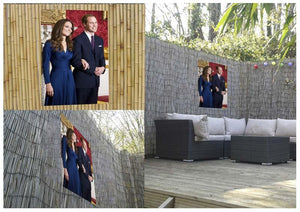 Prince William and Kate announcing their engagement Outdoor Metal Print - Canvas Art Rocks - 2